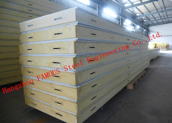 Heat and Sound Insulation PU Sandwich Panels Prefabricated Building Wall Panel