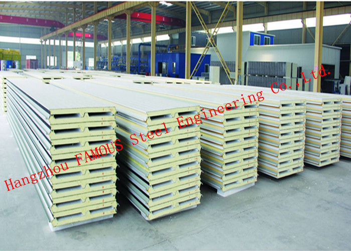 Lightweight Heat Insulation PU Sandwich Panels for Roof Cladding Systems Easy Assembling