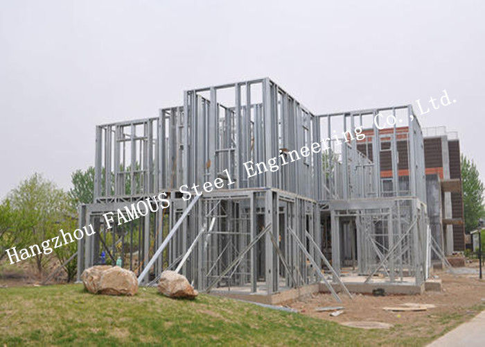 Prefabricated Q235b Light Steel Villa with Cladding Systems for Residential House
